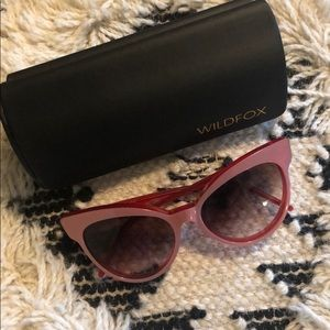 Wildfox Grand Dame Pink Cat Eye Large Sunglasses